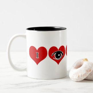 """Cadeau cette tasse spéciale de Valentine """"je vous"""