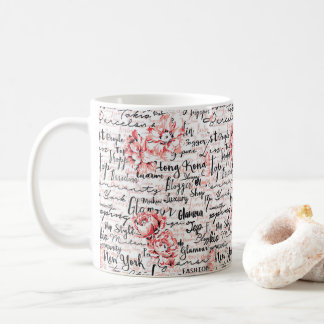 Cadeau chaud inspiré de cacao de thé de tasse de