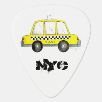 Cadeau Checkered jaune de cabine du taxi NYC New Onglet De Guitare