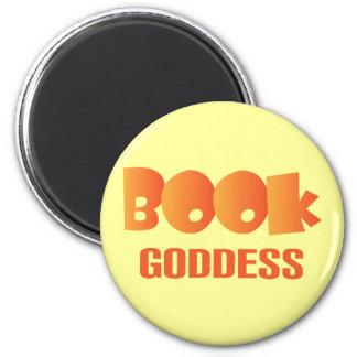 Cadeau coloré de lecture de déesse de livre magnet rond 8 cm