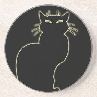 Cadeau d'amoureux des chats de décor d'art de chat dessous de verres