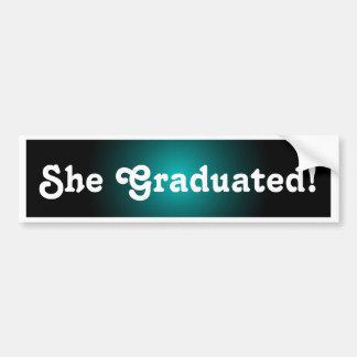 Cadeau d'autocollant de félicitations de diplômés autocollant pour voiture