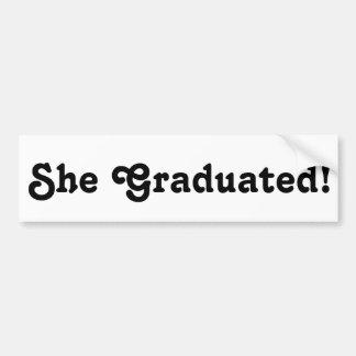 Cadeau d'autocollant de félicitations de diplômés autocollant de voiture