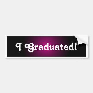 Cadeau d'autocollant de félicitations de diplômés