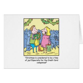 Cadeau de bande dessinée de Noël sur le crédit Carte De Vœux