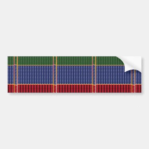 CADEAU de bouton de vert de rouge bleu de Digitals Autocollants Pour Voiture