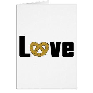 Cadeau de bretzels d'amour cartes