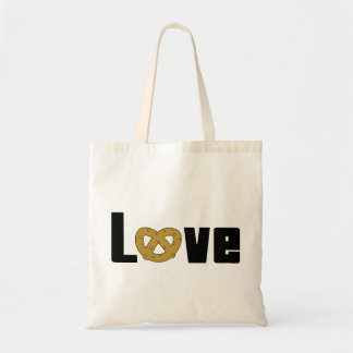 Cadeau de bretzels d'amour sac en toile