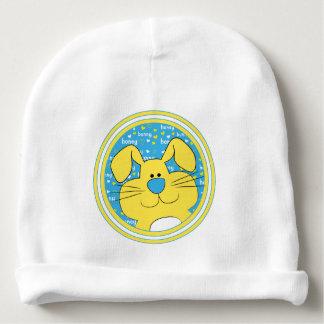 Cadeau de calotte de bébé/lapin/bleu/jaune de miel bonnet de bébé