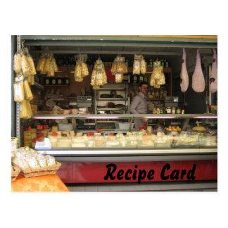 Cadeau de carte de recette réglé - fromage italien