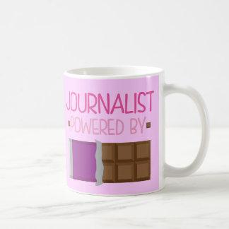 Cadeau de chocolat de journaliste pour elle mug