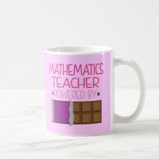 Cadeau de chocolat de professeur de mathématiques mug