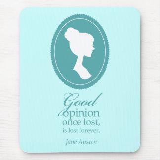 Cadeau de citation perdu par opinion bleue de Jane Tapis De Souris