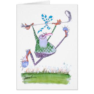 cadeau de golf, fernandes élégants carte de vœux