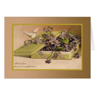 Cadeau de l'amour - carte de remerciements de phot