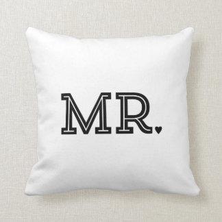 Cadeau de M. et de Mme Cute Wedding Keepsake Coussin
