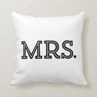 Cadeau de M. et de Mme Cute Wedding Keepsake Newly Coussin