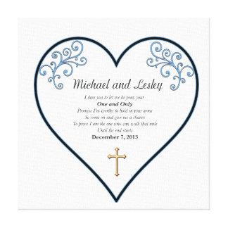 Cadeau de mariage de Michael et de Lesley Toiles Tendues Sur Châssis