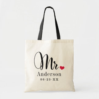 Cadeau de mariage de Name | de M. Married Sac De Toile