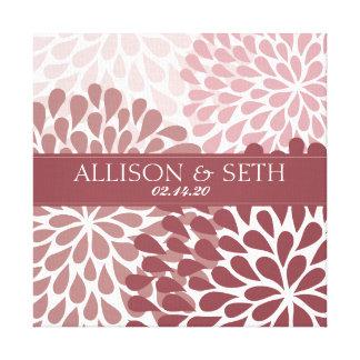 Cadeau de mariage de toile de chrysanthème (rouge  toile tendue