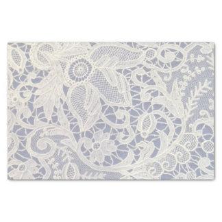 Cadeau de mariage élégant en ivoire de bleu marine papier mousseline
