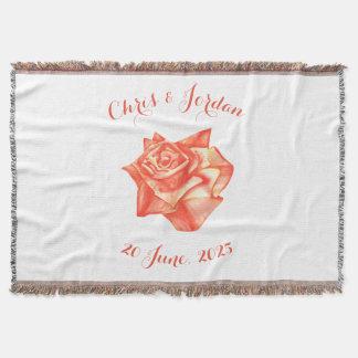 Cadeau de mariage élégant simple de rose de corail couverture