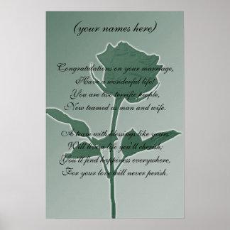 Cadeau de mariage pour les jeunes mariés affiches