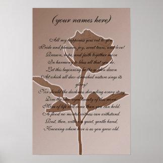 Cadeau de mariage pour les jeunes mariés poster