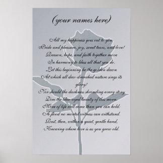 Cadeau de mariage pour les jeunes mariés posters