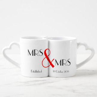 Cadeau de Mme et de mariage de Mme Lesbian Mug