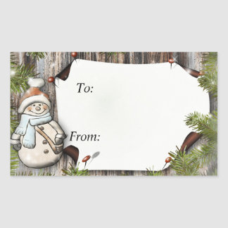 Cadeau de Noël à et des étiquettes
