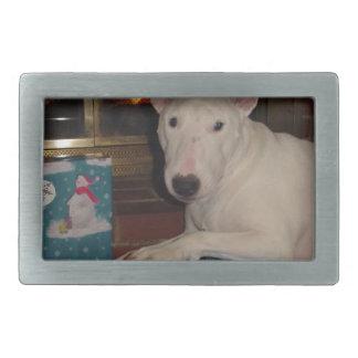 cadeau de Noël anglais de bull-terrier Boucles De Ceinture