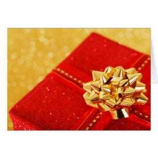 Cadeau de Noël rouge Carte De Vœux
