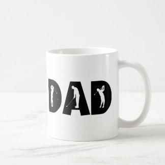 Cadeau de papa de golf tasse à café