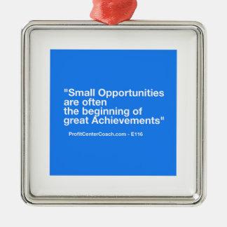 Cadeau de petite entreprise - petit ornement carré argenté