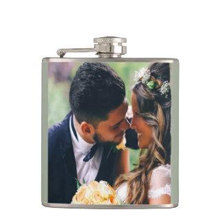Cadeau de photo de couples de mariage de flasques