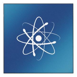 Cadeau de physique de geek du symbole | d'atome