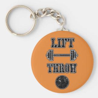 Cadeau de porte - clé de lanceur mis par tir porte-clé rond