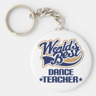 Cadeau de professeur de danse porte-clé rond