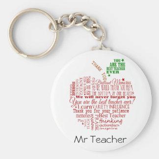 Cadeau de professeur de Merci Porte-clés