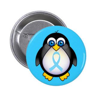 Cadeau de ruban de turquoise de pingouin pin's