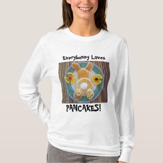 Cadeau de T-shirt d'amant de lapin de crêpe pour
