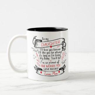 Cadeau de tasse de café de fille de maman fière