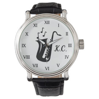 Cadeau décoré d'un monogramme de montre pour le