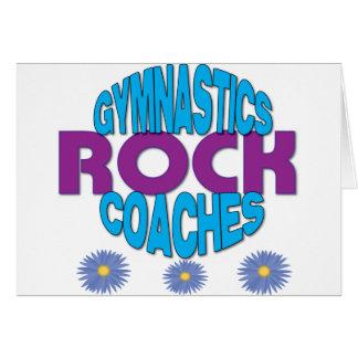 Cadeau d'entraîneur de gymnastique carte de vœux