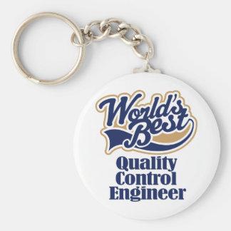 Cadeau d'ingénieur de contrôle de qualité porte-clé rond