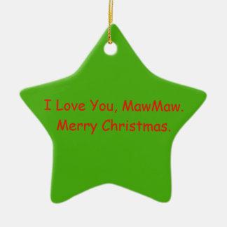 Cadeau d'ornement de Noël de MawMaw Ornement Étoile En Céramique