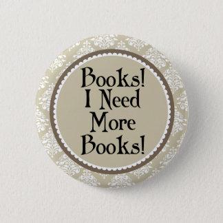 Cadeau drôle de bibliothécaire d'intoxiqué de pin's