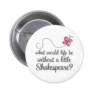 Cadeau drôle de citation de Shakespeare Badges
