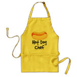 Cadeau drôle de cuisine de chef de hot-dog tabliers
